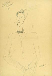 Amedeo Modigliani Ritratto di Jean Cocteau, 1916 circa Matita su carta, 380 x 260 mm USA, collezione privata