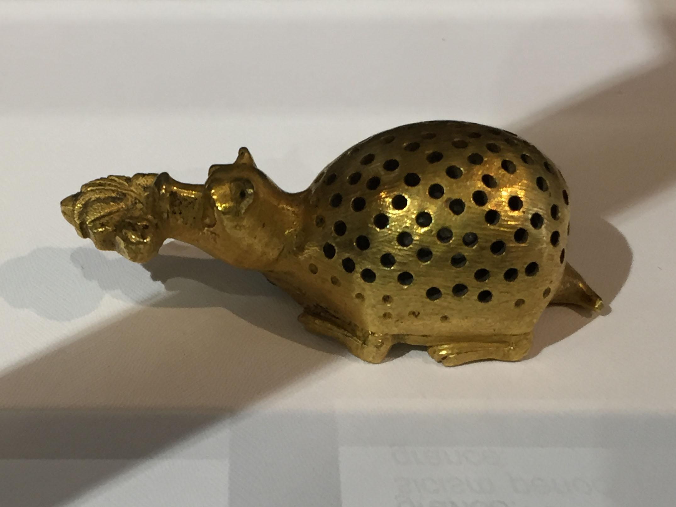 Pomander in bronzo, Persia, 20° secolo