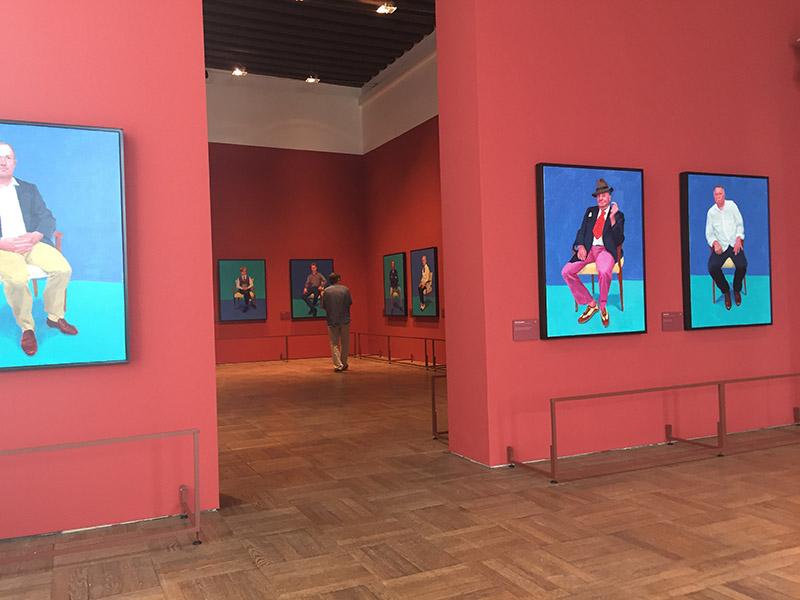 David Hockney 82 ritratti e 1 natura morta, veduta della mostra all'interno di Ca' Pesaro 1