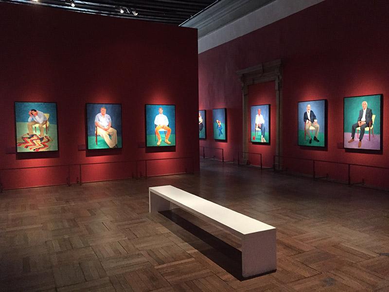 David Hockney 82 ritratti e 1 natura morta, veduta della mostra all'interno di Ca' Pesaro 3