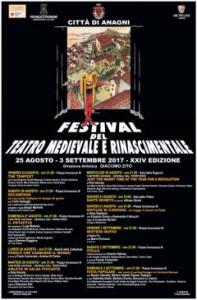 Locandina del Festival del Teatro Medievale e Rinascimentale di Anagni