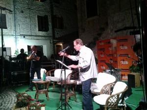 Un momento dello spettacolo di Sergio Nicolai
