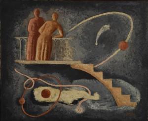 René Paresce Paesaggio/La notte, 1934 Olio su tela, cm. 52,5x64 Casa-Museo Boschi Di Stefano, Milano