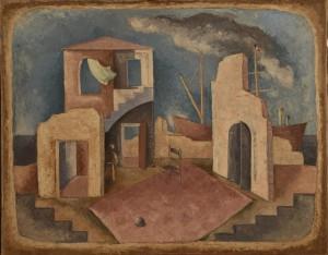 René Paresce La partenza, 1932 Olio su tela, cm. 73x93 Casa-Museo Boschi Di Stefano, Milano