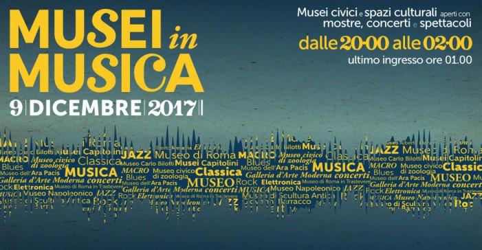 Musei in musica nella serata di sabato 9 dicembre
