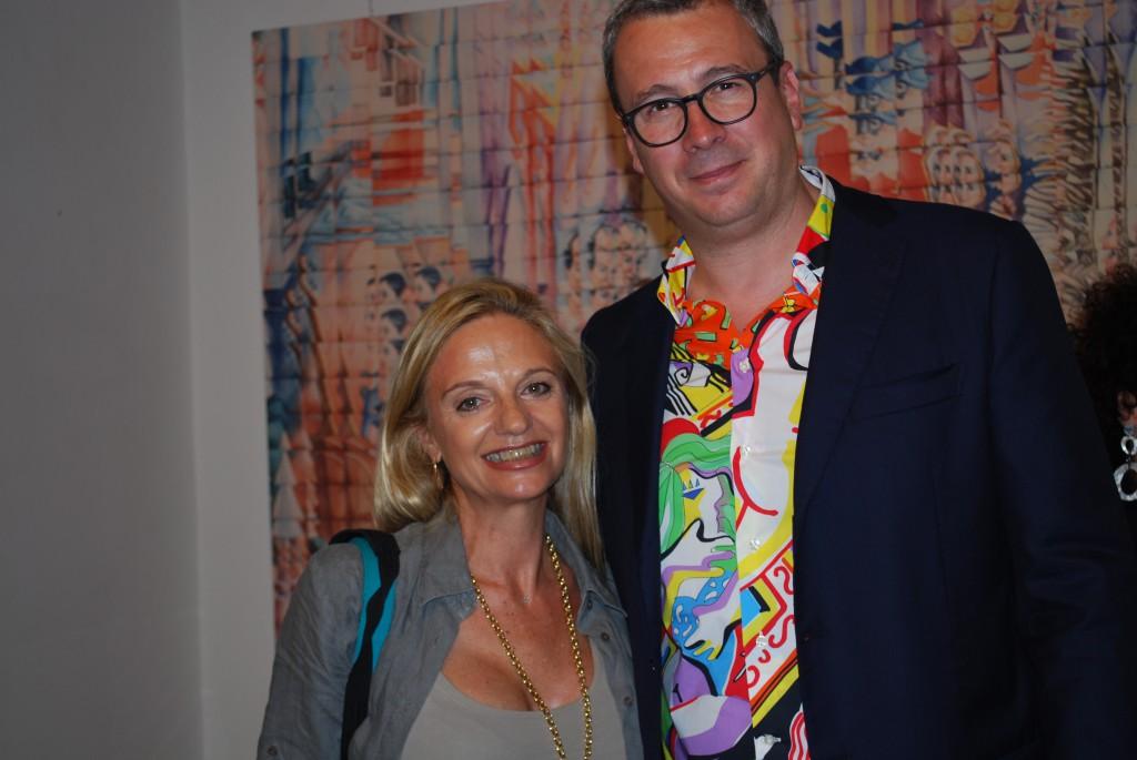 Fabiola Cinque con Francesco Martini Coveri