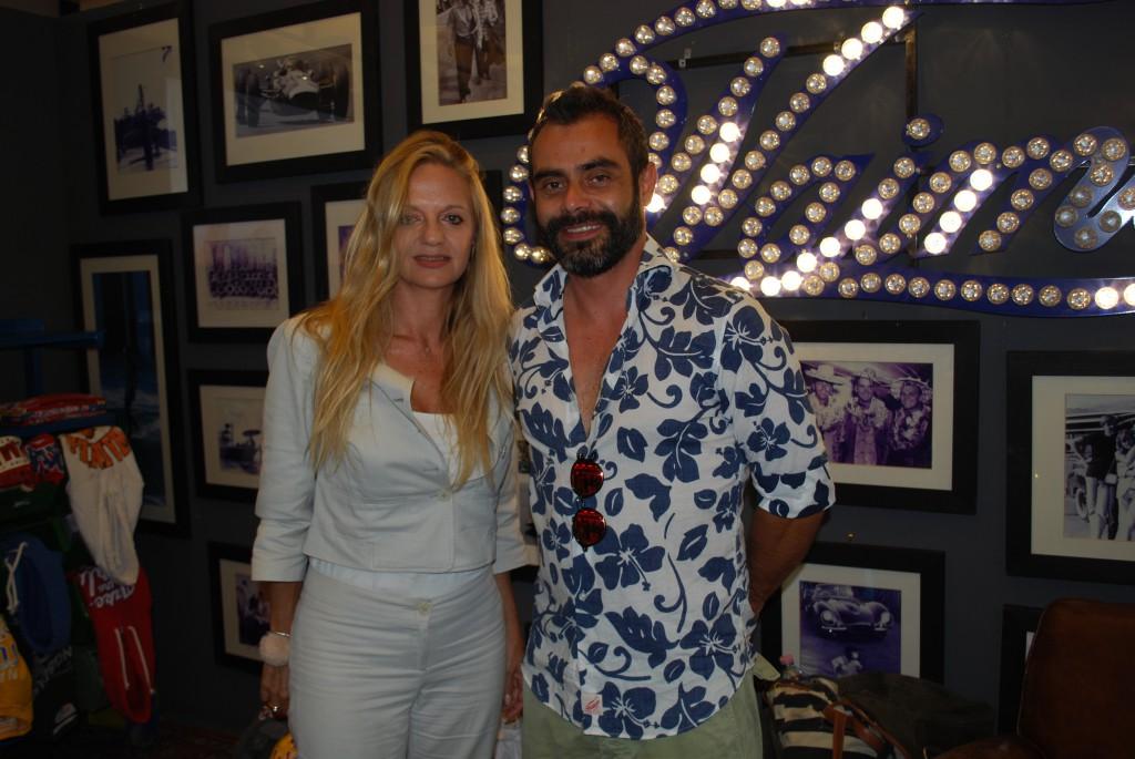 Fabiola Cinque con il direttore creativo di Waimea, Emiliano Arrieta