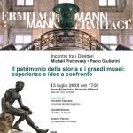 Ermitage e MANN: l'incontro tra Paolo Giulierini e Michail Piotrovsky