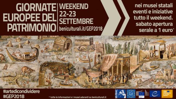 Giornate Europee del Patrimonio 2018: l'Arte da condividere