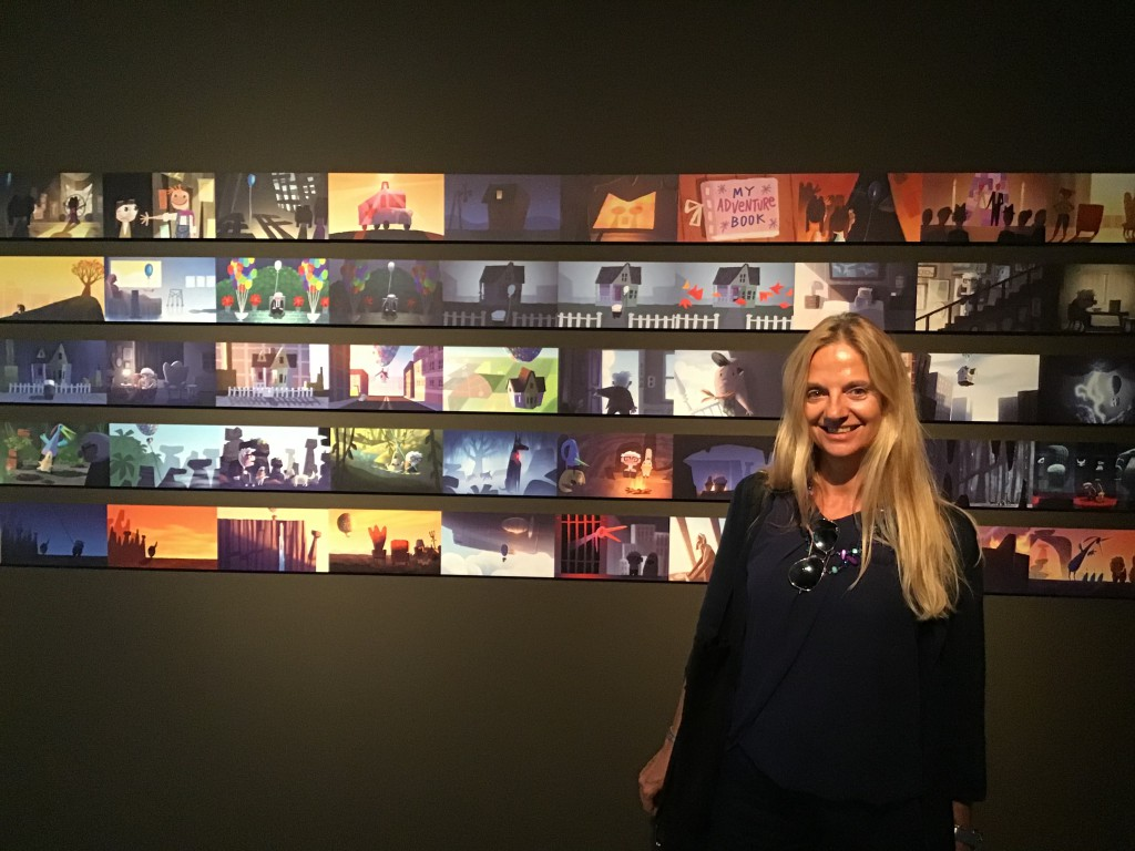 Fabiola Cinque alla mostra pixar al palexpo