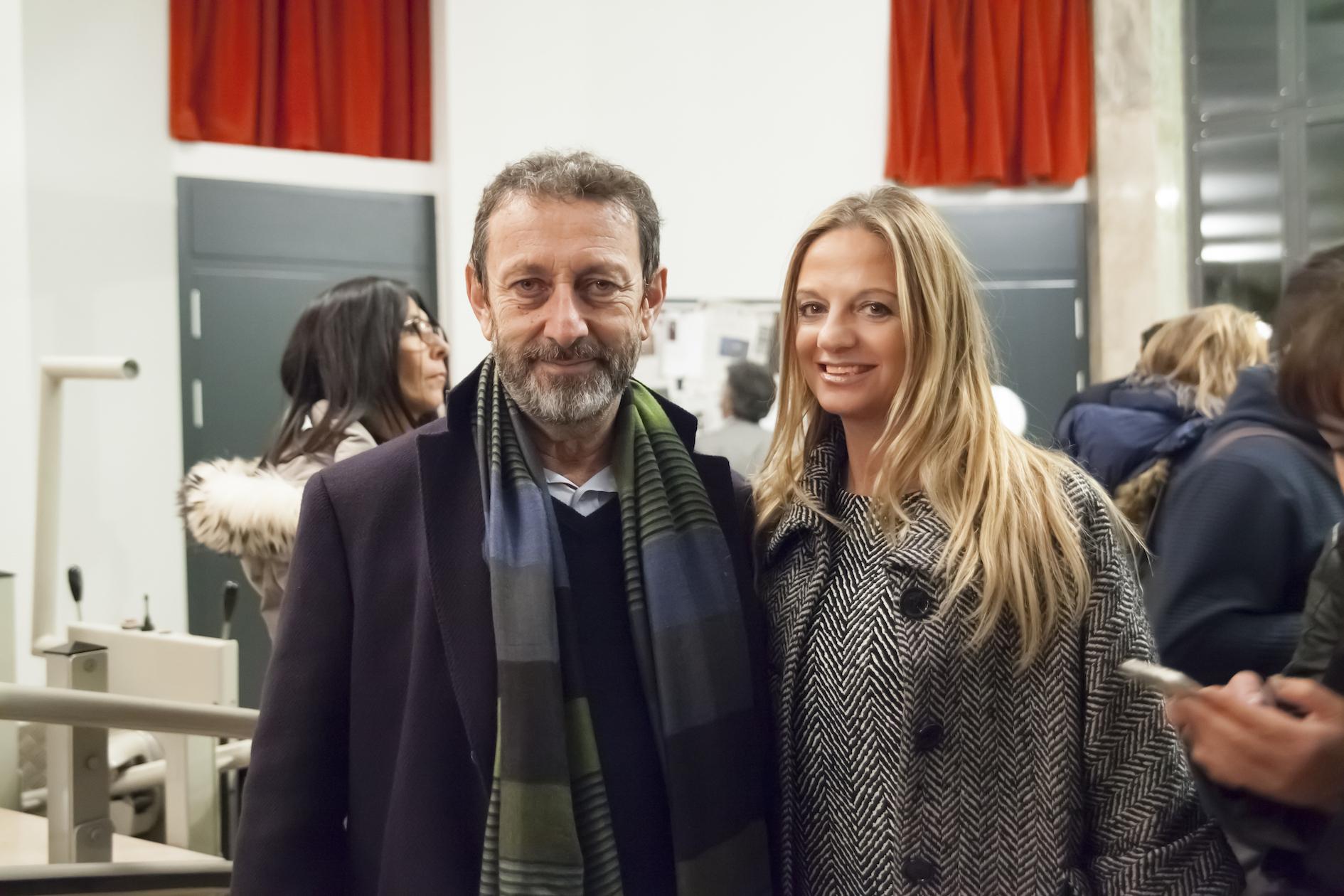 Fabiola Cinque con Michele Serra