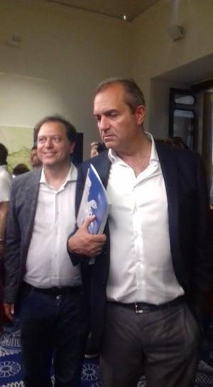 Il Direttore del MANN Paolo Giulierini e il sindaco di Napoli Luigi De Magistris