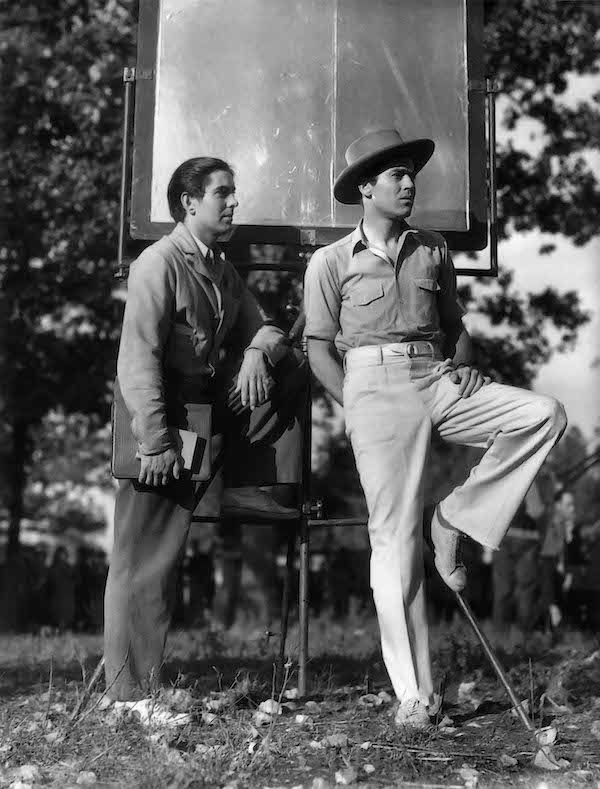 "Tyrone Power ed Henry Fonda interpretano Jesse e Frank James, ""Jesse James"" (USA, 1939), regia di Henry King"