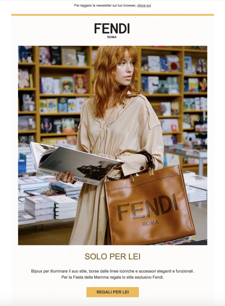 FENDI shopping Palazzi lusso internazionale