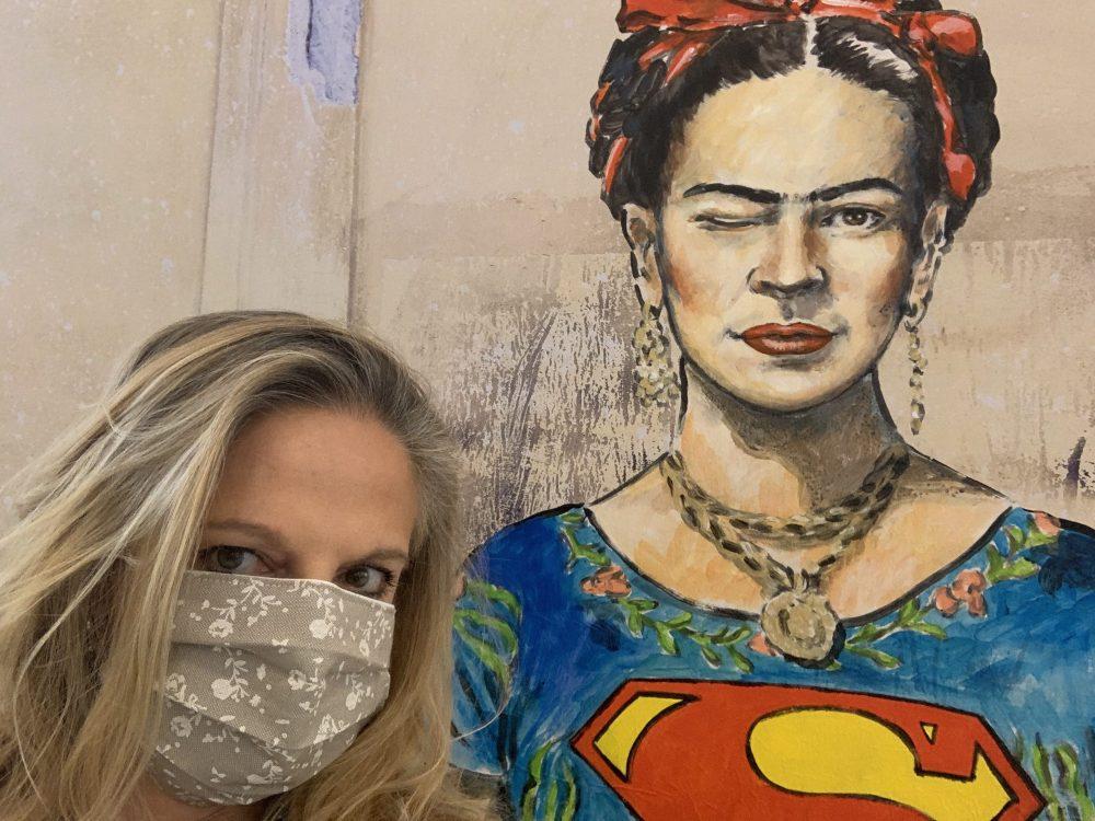 Io e FRIDA Superwoman al MANN. Foto MyWhere