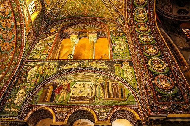mosaici San Vitale foglia d'oro mywhere