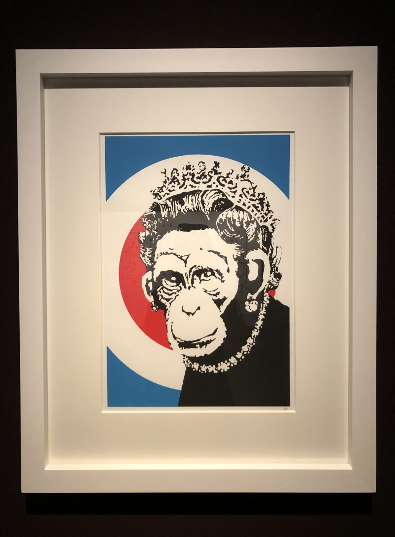 Banksy Monkey Queen foto Mywhere