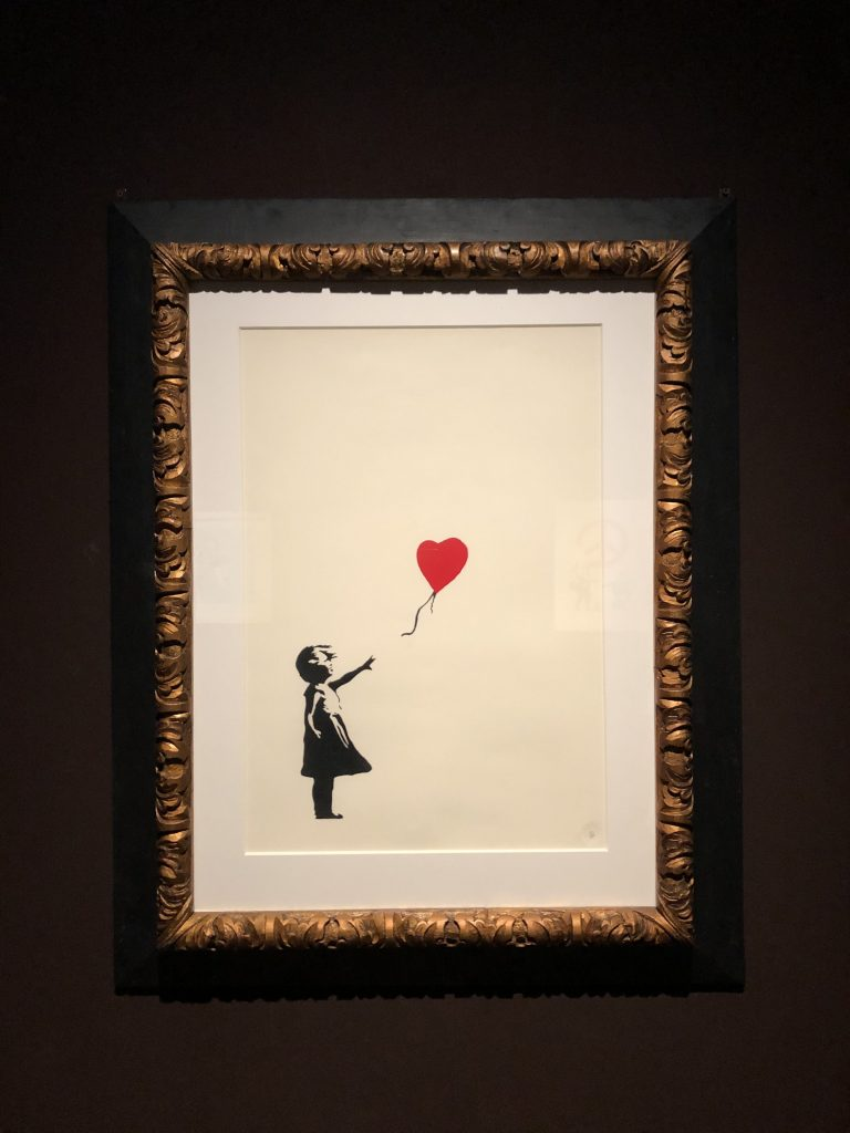 Banksy Girl With Balloon, foto Mywhere