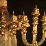 sette menorah ebraico