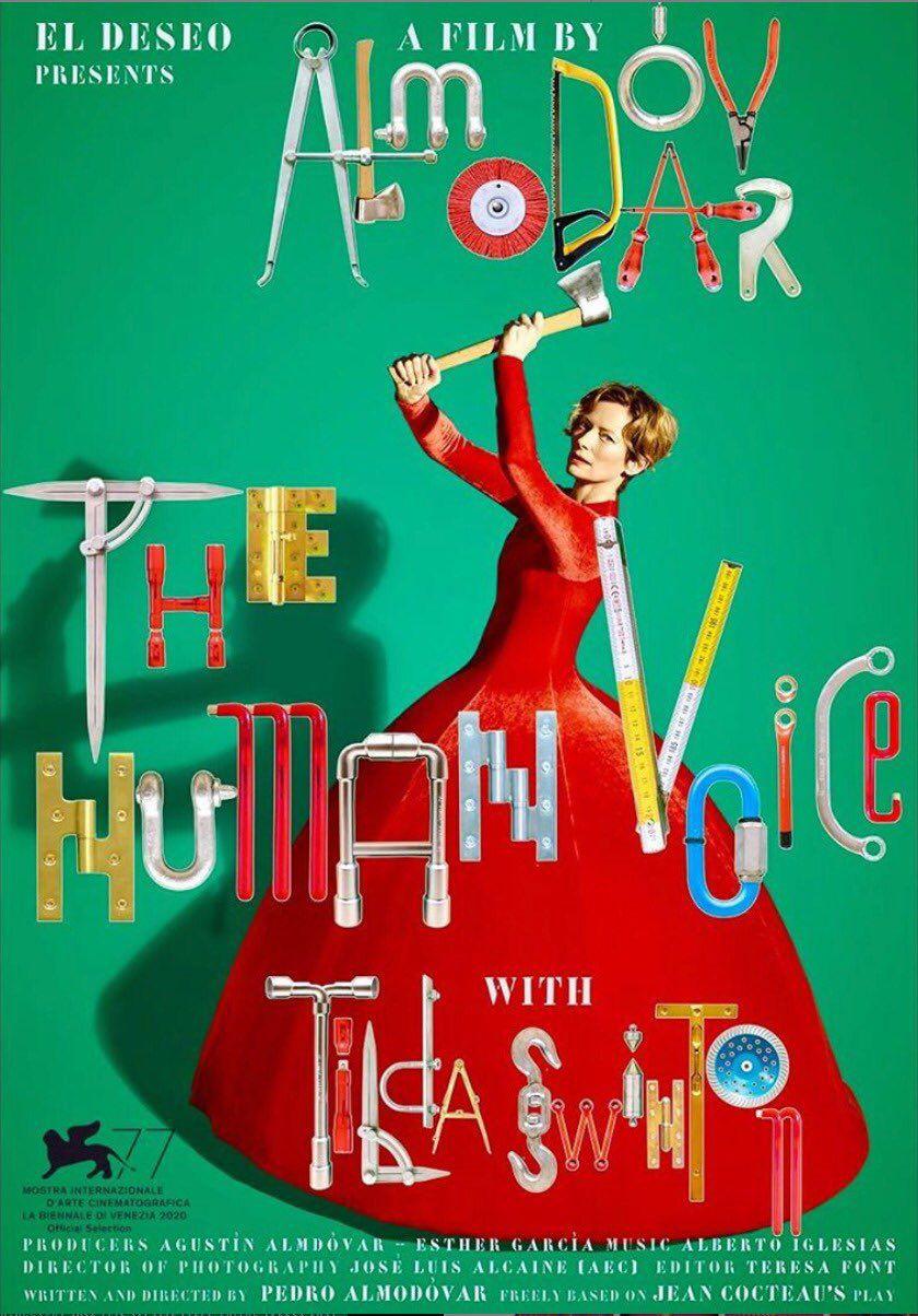 poster for Pedro Almodóvar and Tilda Swinton