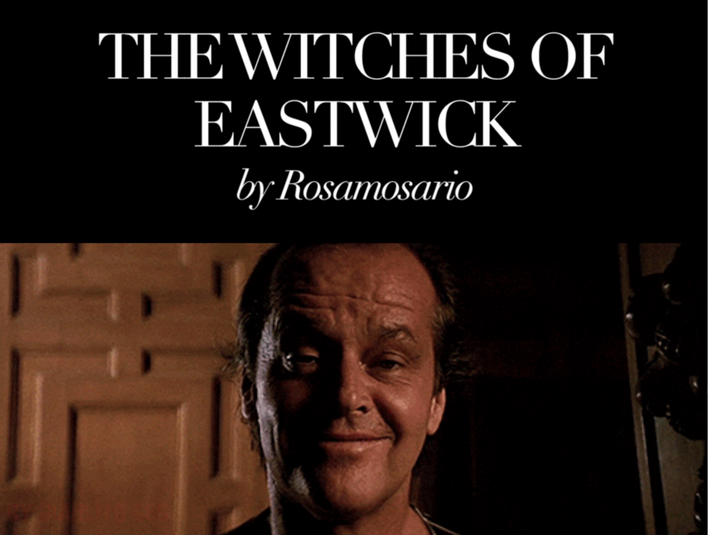 Rosamosario streghe di Eastwick
