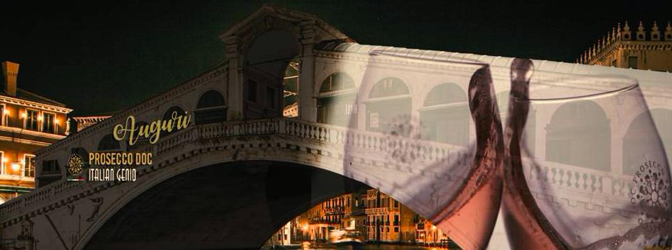 Natale di Luce 2020 Venice Italy. Rialto Bridge.