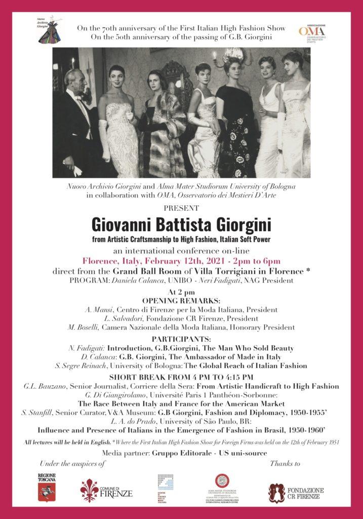 70° anniversario Giovanni Battista Giorgini
