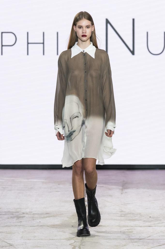 Sophia Nubes Oxana la donna della Milano Fashion Week