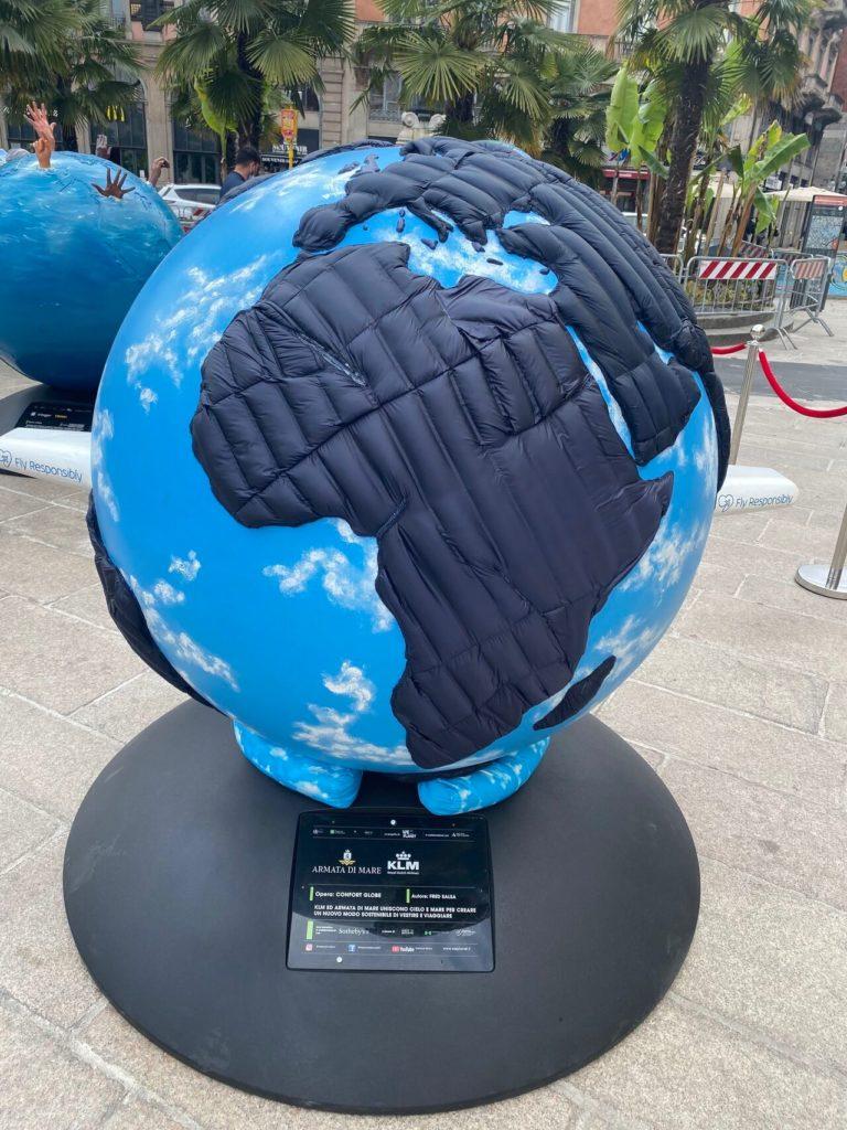 Globo KLM ecosostenibile