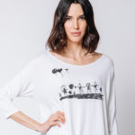 t-shirt bianca Martino Midali