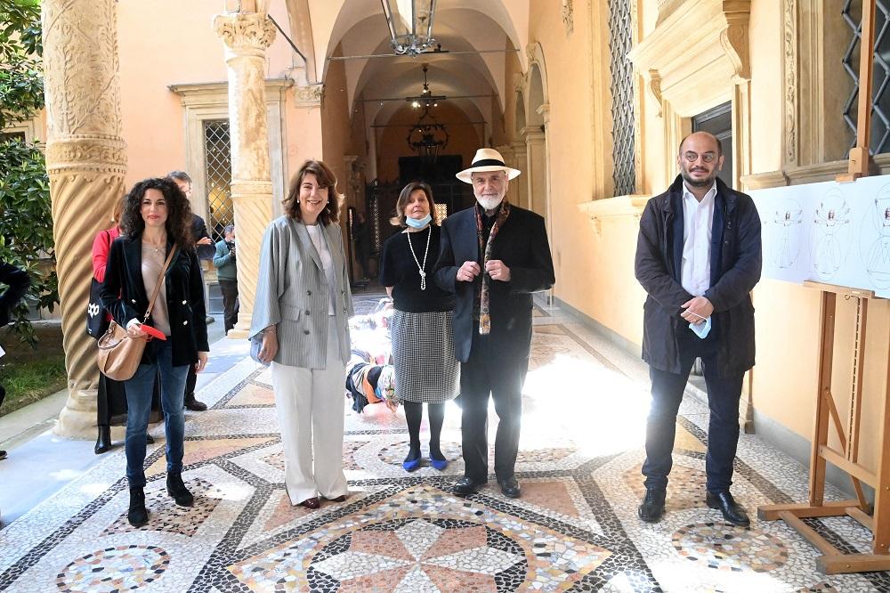 Immagini dalla mostra di Michelangelo Pistoletto in corso a Palazzo Boncompagni