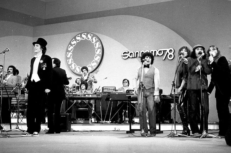 Rino Gaetano al Festival di Sanrenmo del 1978