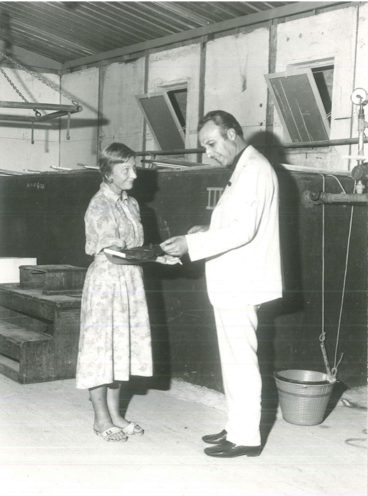 il Presidente delle Cantine Pellegrino e Miss Honor Frost
