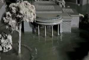 Metal Pool, 1:60 resin model of Giardino, hidraulic system Credit Agostino Osio